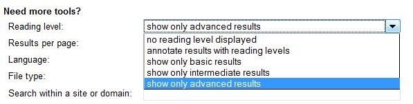 Google Reading Level