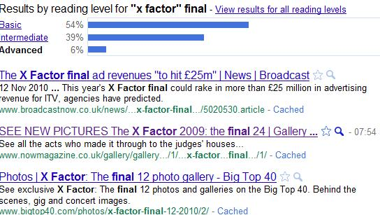 Google Reading Level xFactor