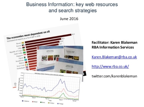 Business Information - key web resources